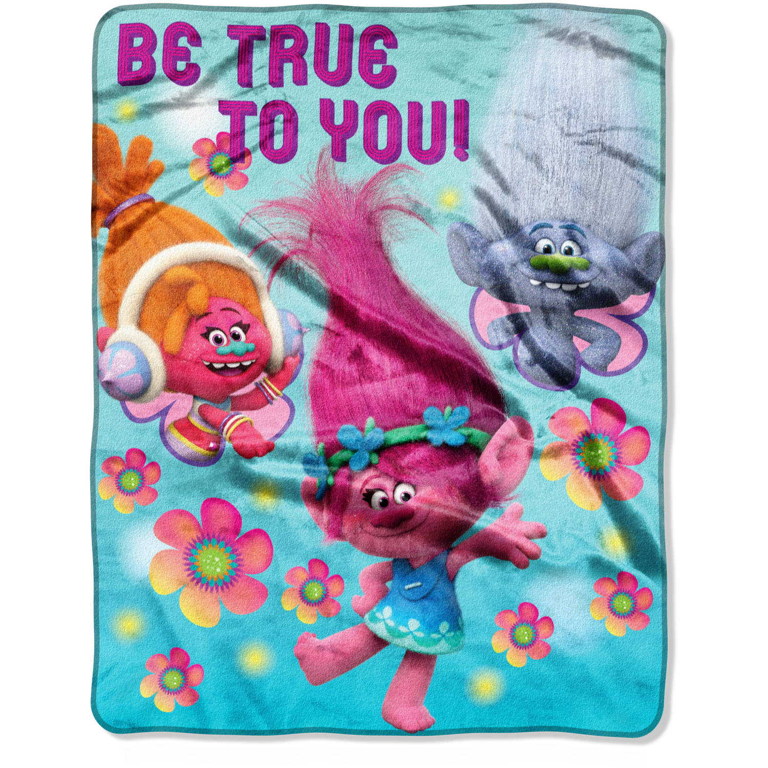 "DreamWorks Trolls Be True to You 40"" x 50"" Silk Touch Throw"