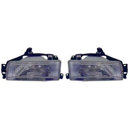 Go-Parts - PAIR/SET - OE Replacement for 1988 - 1992 Toyota Corolla Front Headlightss Headlamps Assemblies Front Housing / Lens / Cover - Left & Right (Driver & Passenger) Side - (4 Door; Sedan +) Toyota Corolla Headlight Door