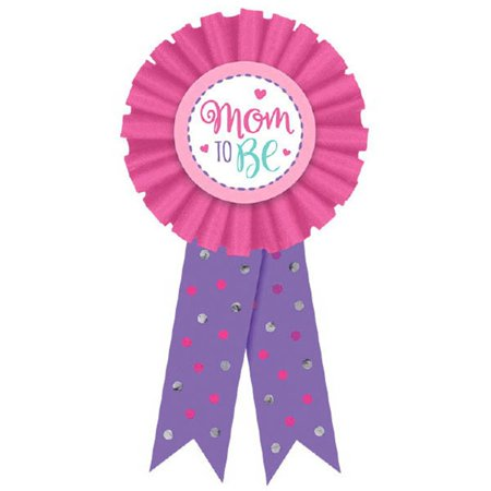 New Mom Award Ribbon Badge New Baby, Shower (Baby Shower Ribbons)