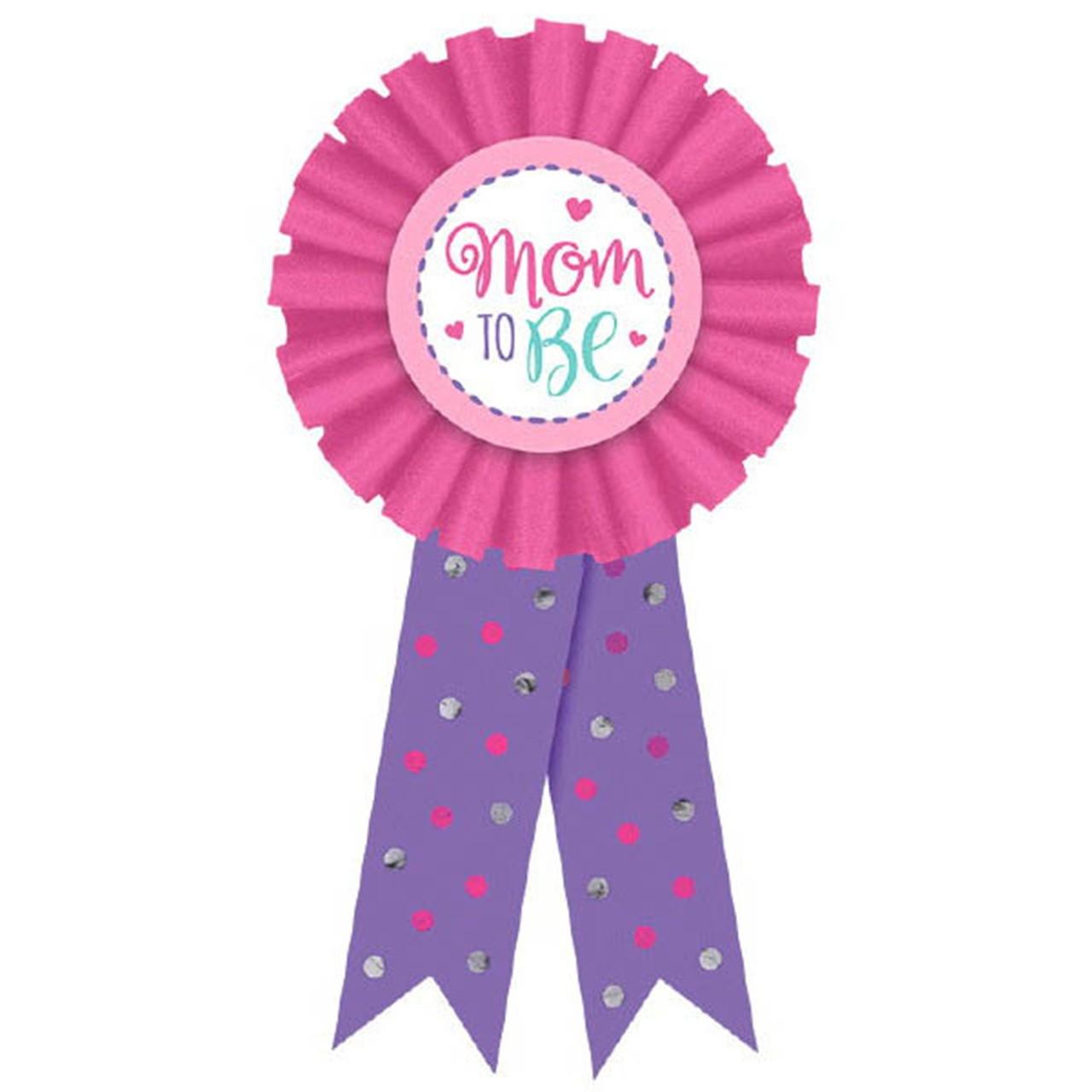 New Mom Award Ribbon Badge New Baby, Shower