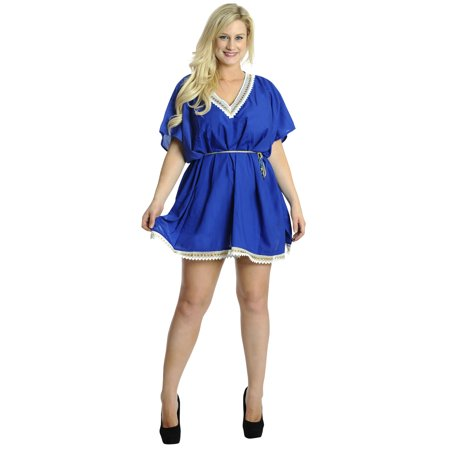 6119fa99475b4 LA LEELA - Women s Beach Kimono Swimwear Swimsuit Bikini Plus Size Cover  ups Rayon Dress - Walmart.com
