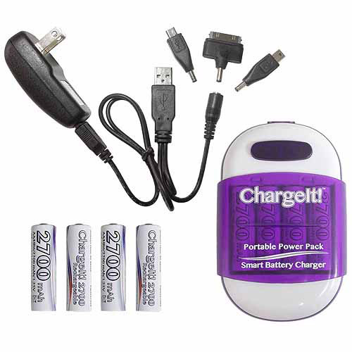 PC Treasure 08759 ChargeIt Portable Powerbank Pack, Purple
