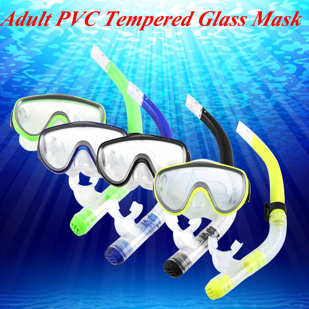 Snorkel Set, Snorkel Mask with Dry Snorkel for Adult Youth Anti-Fog Coated Snorkeling Goggles Comfortable Soft Mouthpiece Snorkel Tube