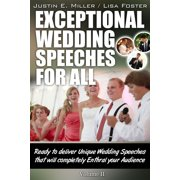 Exceptional Wedding Speeches for All (Volume II) - eBook