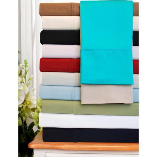 300 Thread Count Egyptian Cotton Sheet Set Pillowcase King (set of 2) - Black