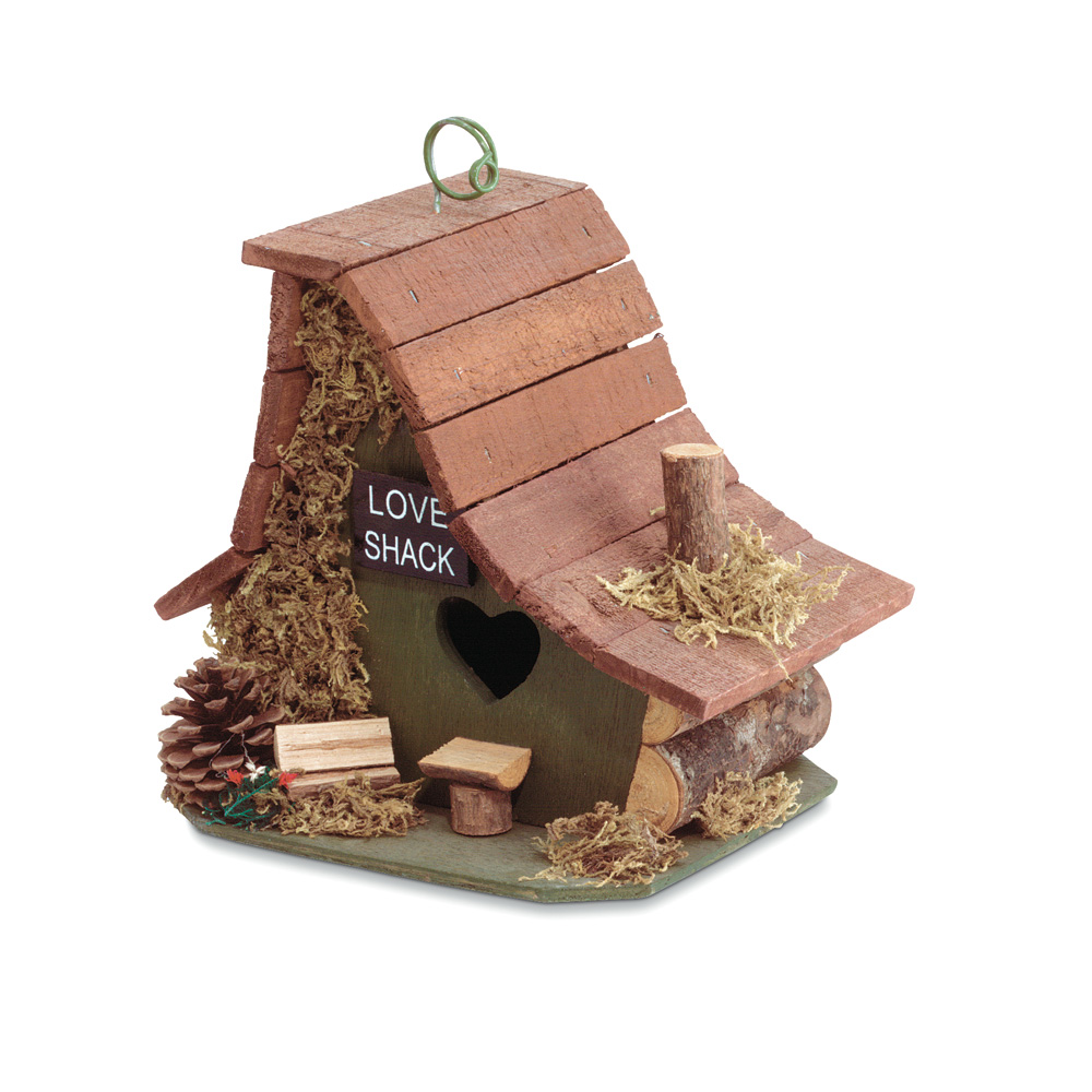 Finch Birdhouse, Cute Decorative Hanging Birdhouse Hummingbirds Love Shack by Songbird Valley