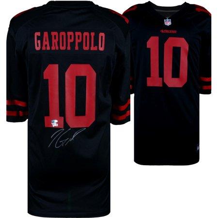 Jimmy Garoppolo San Francisco 49ers Autographed Black Game Jersey - Fanatics Authentic