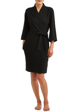 Lissome Women's and Women's Plus Waffle Wrap Robe