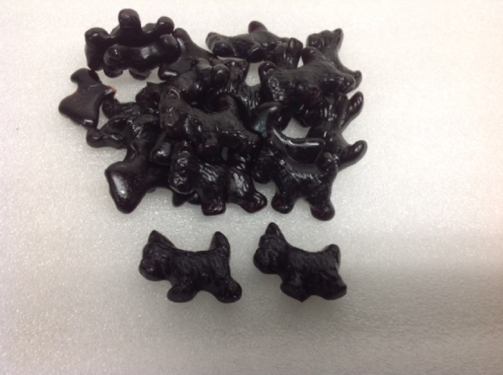 Black Licorice Scottie Dogs 1 pound licorice juju candy by Gimbal's Fine Candies - San Francisco, California,