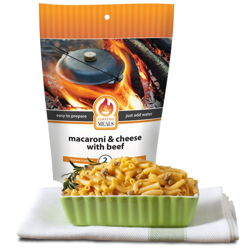 Campfire Meals Cheesy Hamburger Macaroni by Supplier Generic