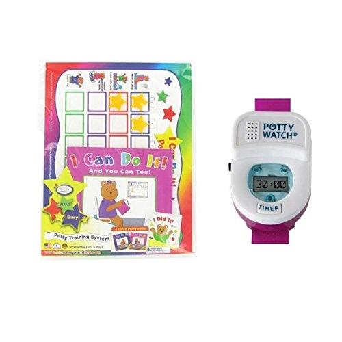 Kenson Kids Potty Training Chart Set with Potty Watch, Pink