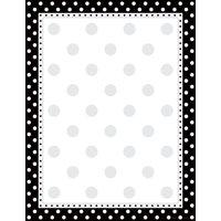 Barker Creek Computer Paper (100 sheets)- Black & White Dot (BC3609)