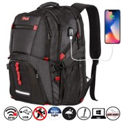 OPACK Extra Large RFID-Safe Travel Backpack with USB Charging Port