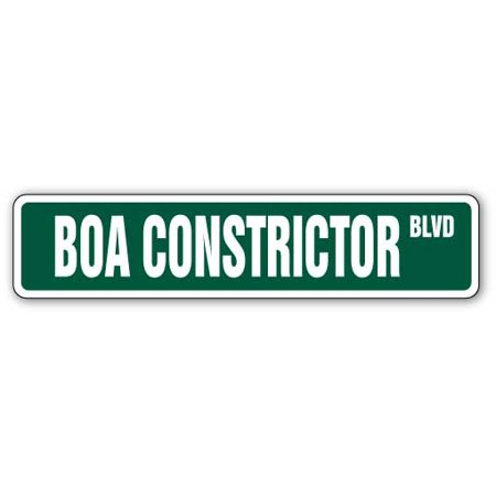 - BOA CONSTRICTOR Street Sign novelty reptile snake lover animal | Indoor/Outdoor |  24