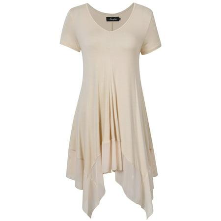 All Clearance - Women Irregular Hem Short Sleeve Plus Size ...