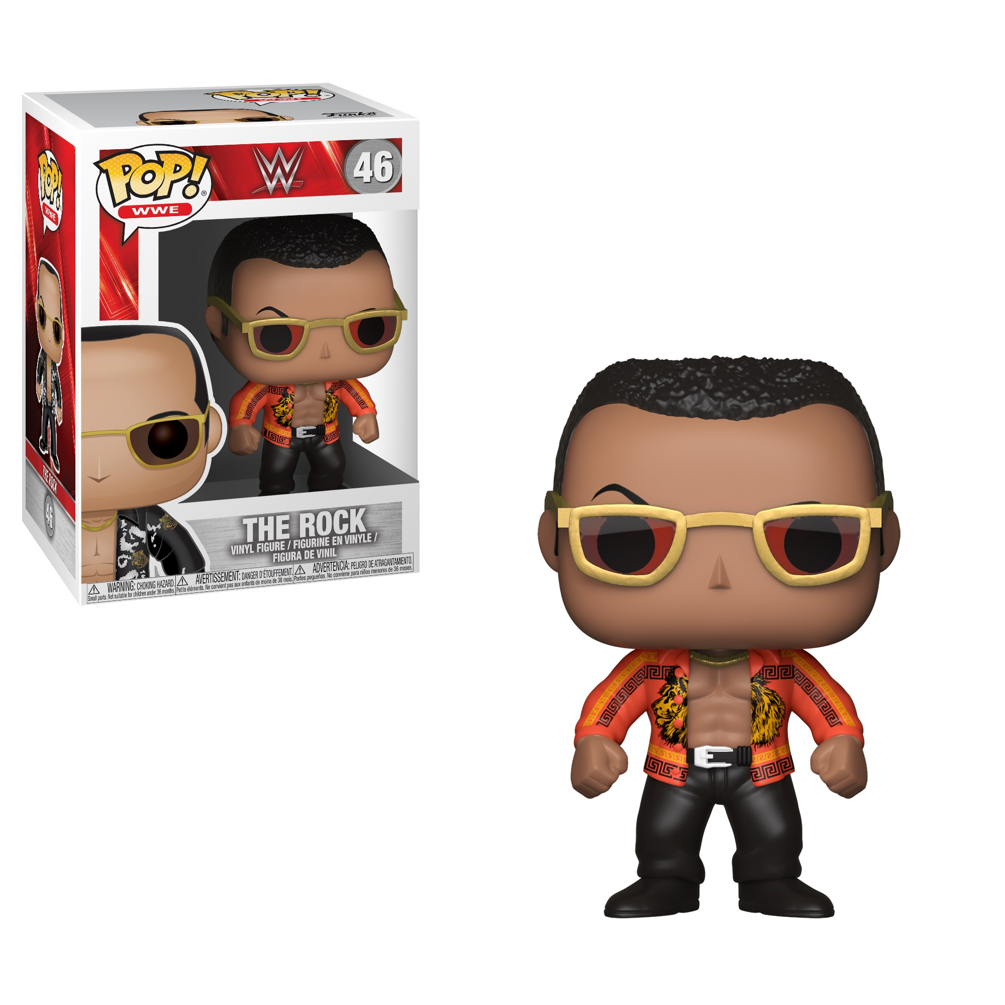 FUNKO POP! WWE: WWE S6 - The Rock Old School