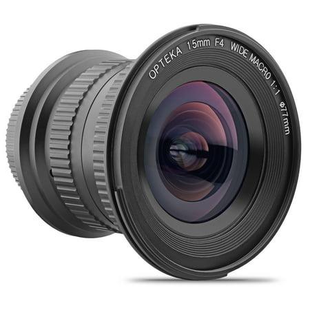 Opteka 15mm f/4 LD UNC AL 1:1 Macro Wide Angle Full Frame Lens for Nikon Digital SLR