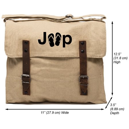 911c76e08519 Grab A Smile - Grab A Smile Jeep with Flip Flops Heavyweight Canvas Medic Shoulder  Bag - Walmart.com