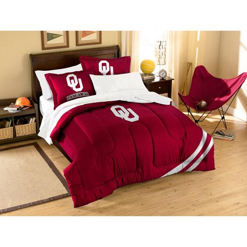 NCAA Applique 3-Piece Bedding Comforter Set, Oklahoma
