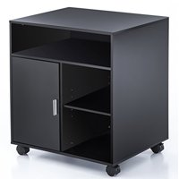 Product Image Fitueyes File Cabinet Mobile Printer Stand With Storage On Wheels 3 Shelf Multiple Finishes Black Ps406001wb