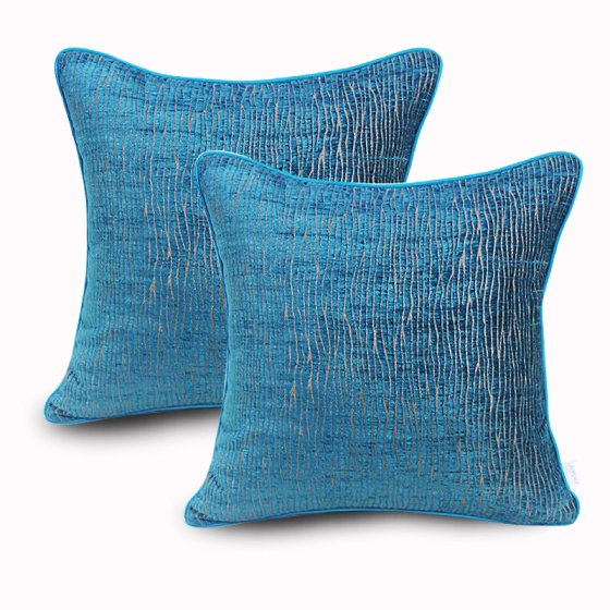 Wendana Set of 2 Chenille Decorative Pillow Covers Decorative Couch Simple Throws Cases Cushion Covers 18x18 Inches for Living Room,Soft Home Throw Pillow Csae For Sofa