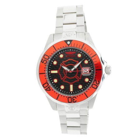 23148 Men's 47mm Grand Diver Police & Fire Automatic Stainless Watch