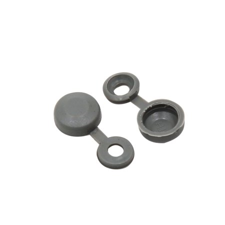100pcs Gray Hinged Plastic Clips Screw Foldable Caps Cover 4mm for Auto Car