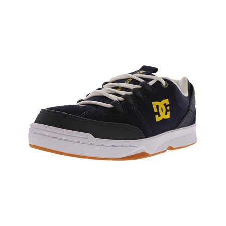 07126151ed1 Dc Men s Syntax Navy   White Ankle-High Leather Skateboarding Shoe - 9.5M  ...