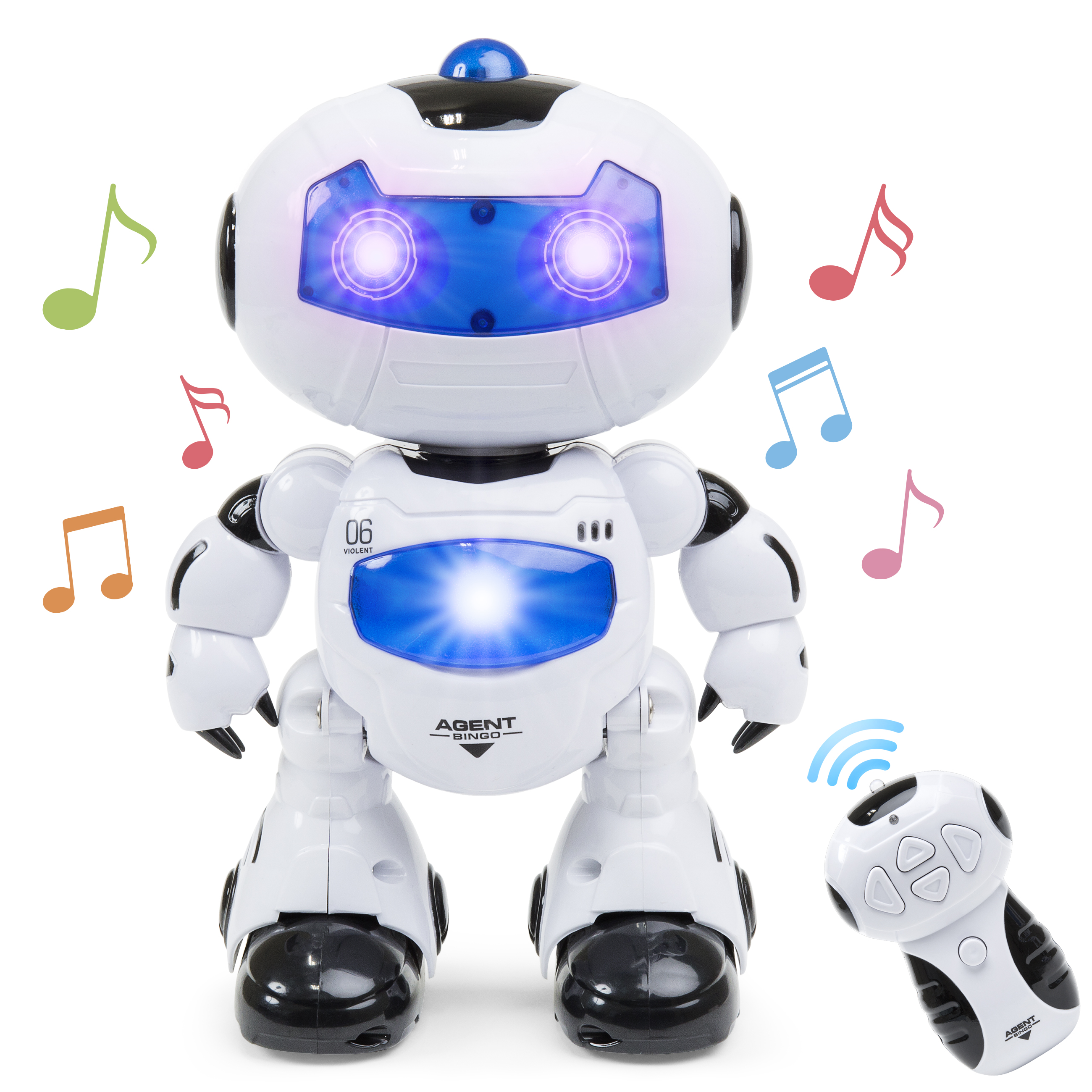 Best Choice Products Kids Electronic RC Robot STEM Toy W/ Music Lights, Intelligent Walking and Dancing