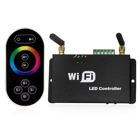 LED4Everything (TM)Touch Screen Remote Controller Wifi Wireless For RGB LED Strip IOS Android Phone
