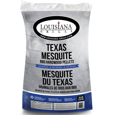 Louisiana Grills All Natural Hardwood Pellets, Texas Mesquite, 20 lbs