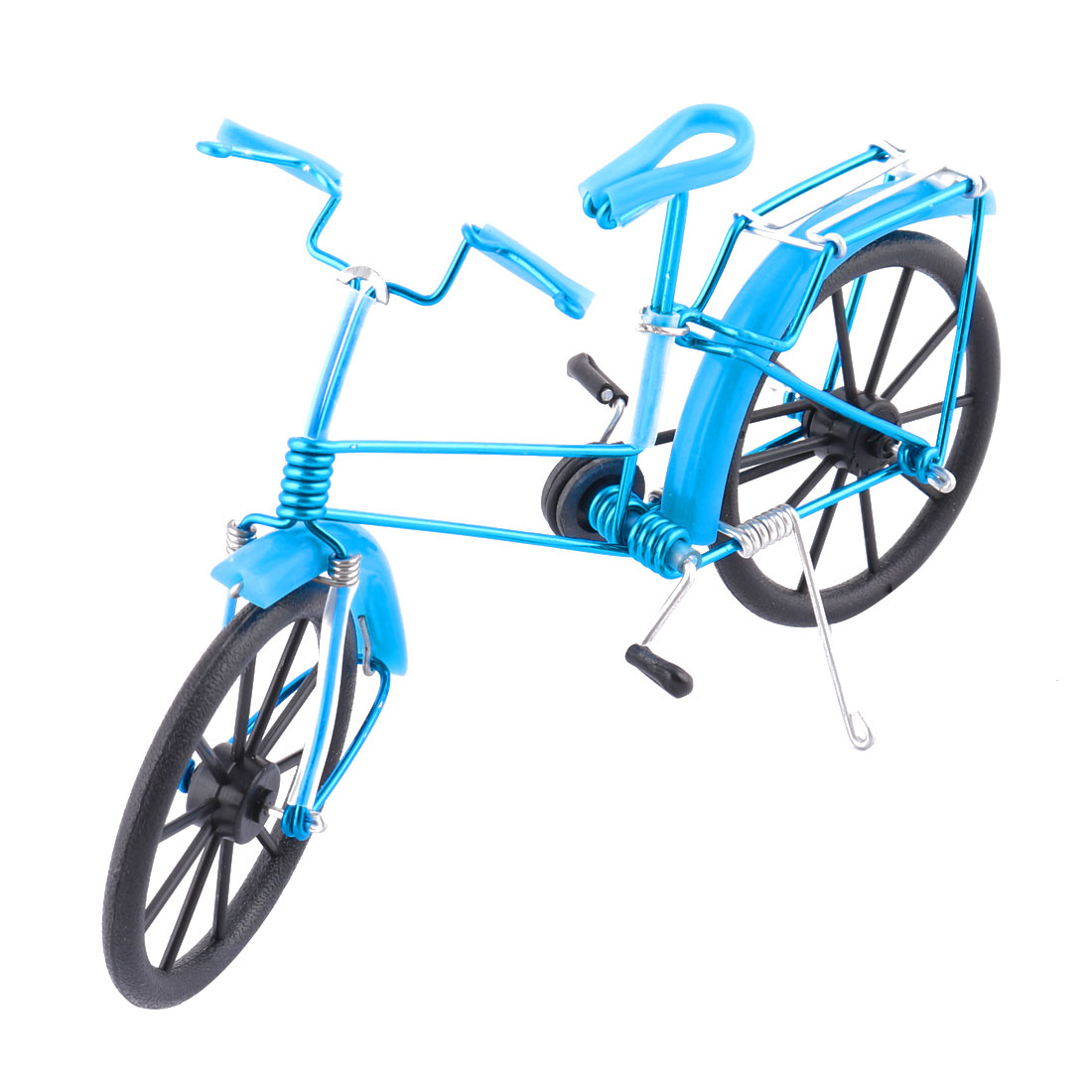Aluminium Alloy Vintage Style Table Decor Handmade Toy Gift Bicycle Model Blue