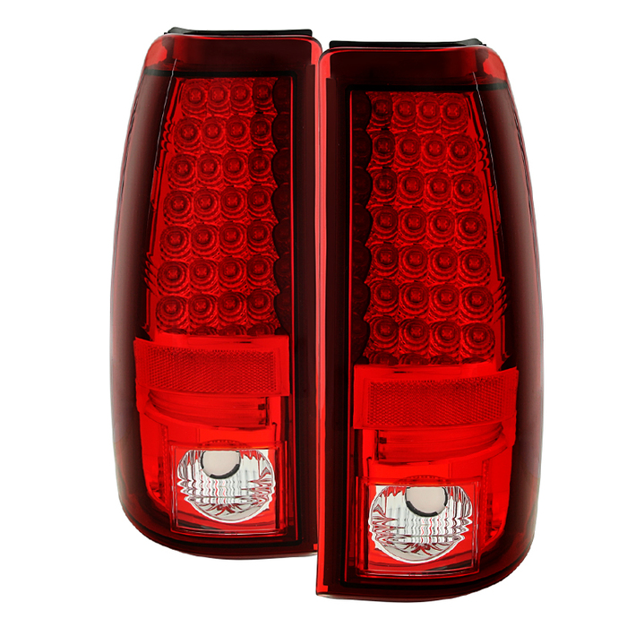 Spyder Chevy Silverado 1500/2500 03-06 ( Does Not Fit Stepside ) LED Tail Lights - Red Clear