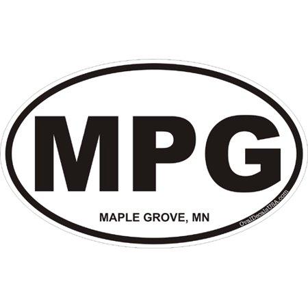 - 3.8 Inch Maple Grove Minnesota Oval Decal
