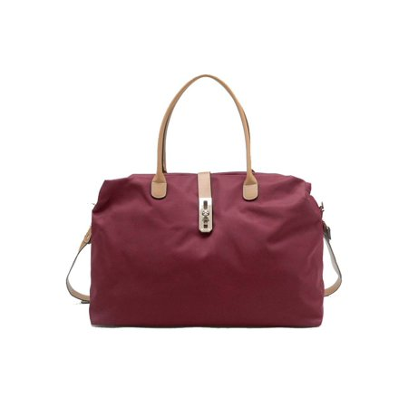 Oversized Tote Handbag - Burgundy