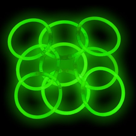 8 Glow Stick Bracelets, Green, 500 ct](Glow In Dark Bracelets Toxic)