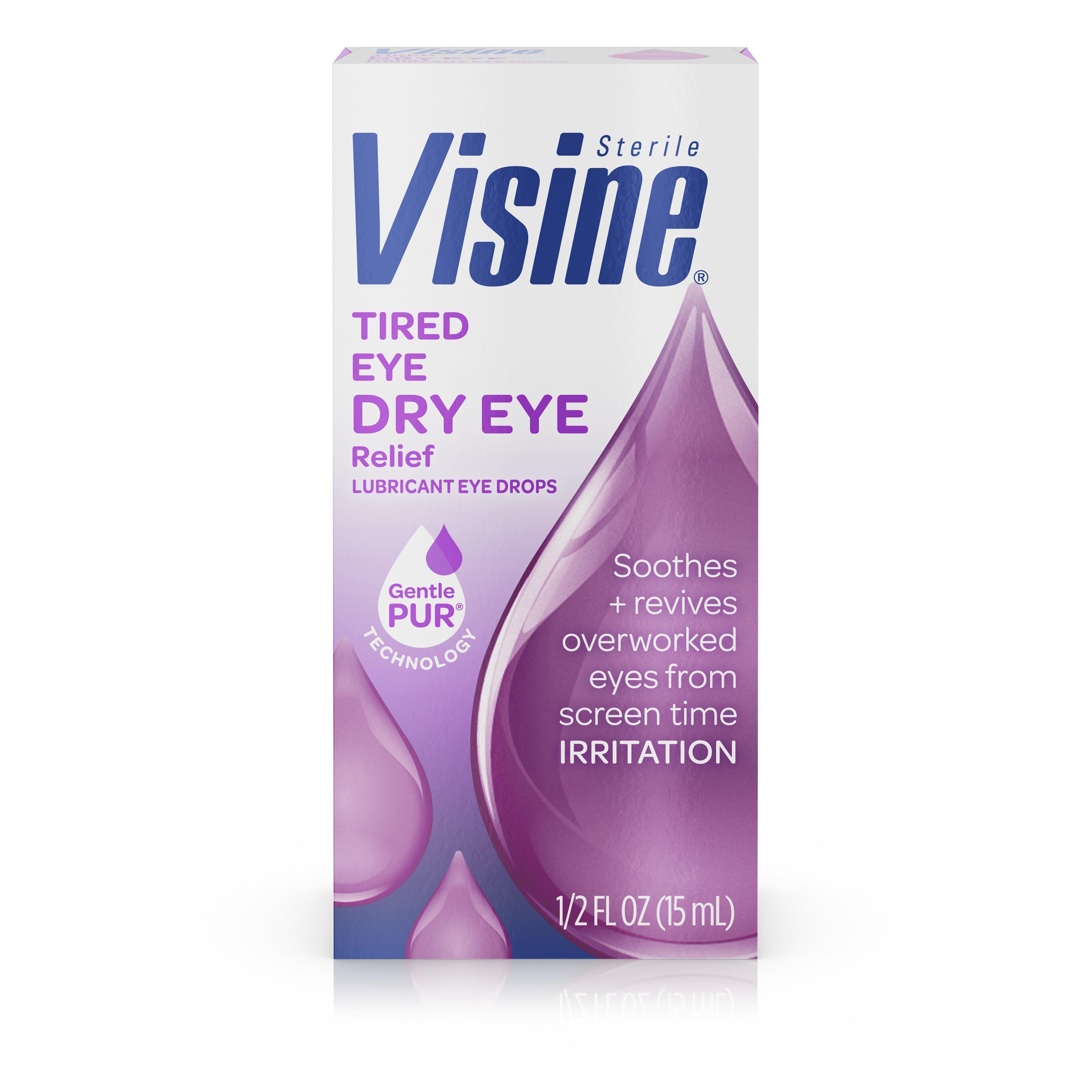 Visine Tired Eye Relief Lubricant Eye Drops, .5 Fl. Oz