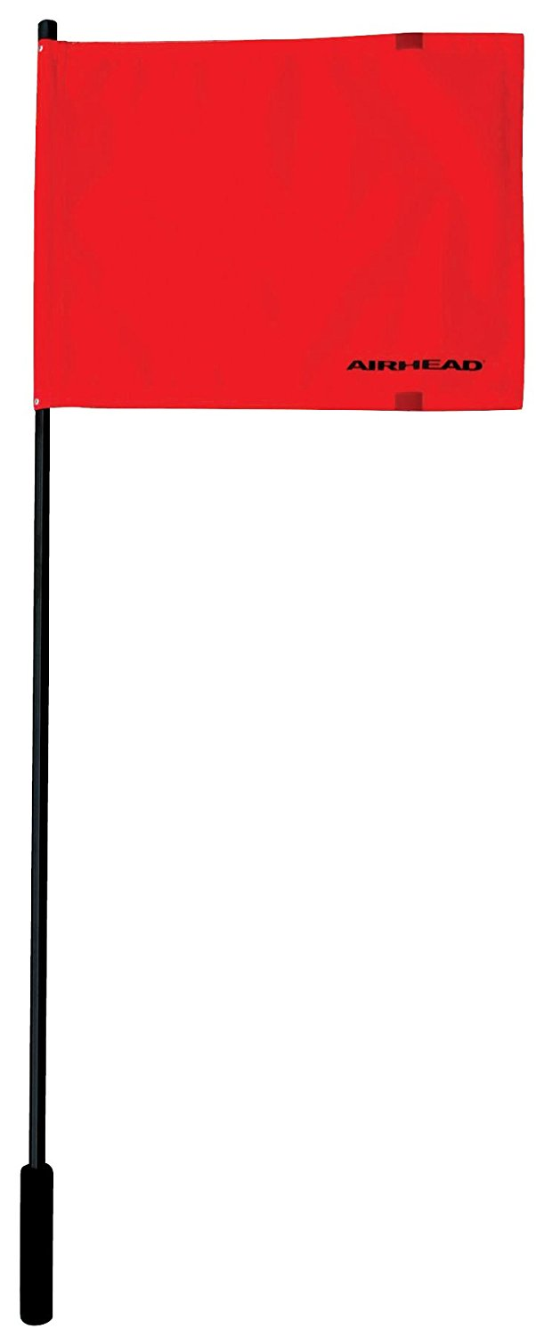 F-48 Deluxe Water Ski Flag with Aluminum Pole 48-Inches, Ship from USA, Brand Airhead by