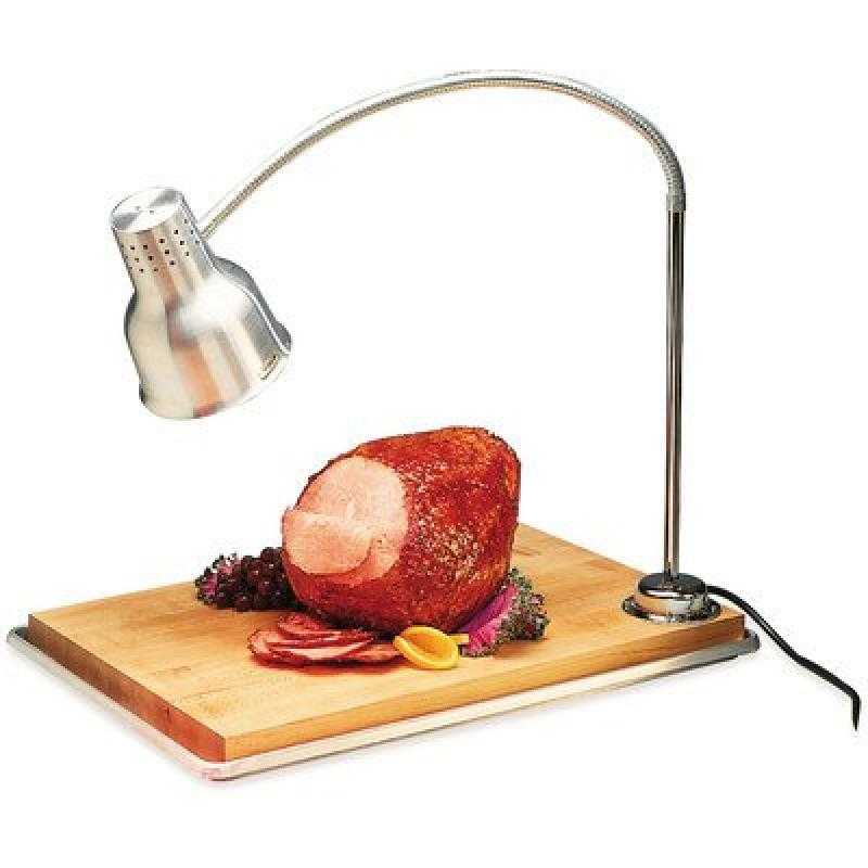 "Carlisle HL8195B00 FlexiGlow Aluminum Heat Lamp with Cutting Board and Drip Pan, Single Arm, 18"" x 26"" x 39"""