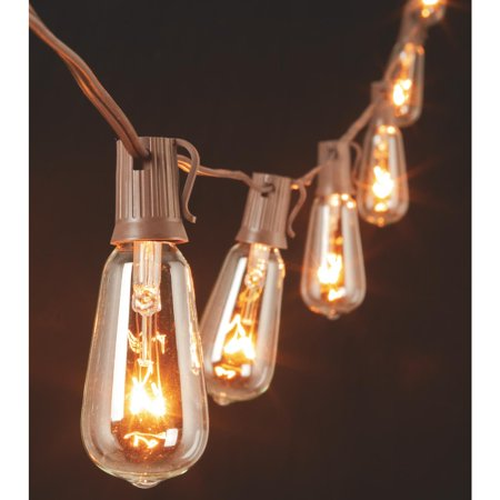 Edison Light Bulb String Lights : Gerson Edison ST40 Bulb String Lights - Walmart.com