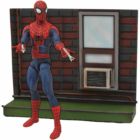 Diamond Select Toys Marvel Select Amazing Spider-Man 2 Action Figure with (Spyder Bases)