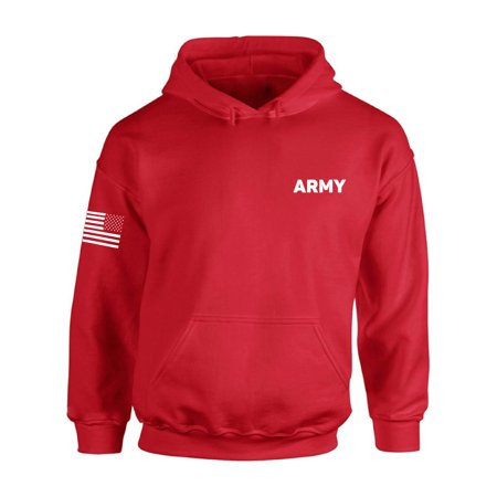 the latest 0b819 64b06 Awkward Styles - Awkward Styles Army Hooded Sweatshirt with Usa Flag on  Sleeve Army Hoodie Unisex Military Army Hoodie Sweater American Flag Sleeve  ...