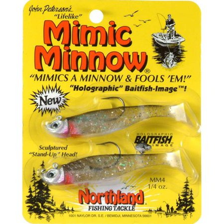 Northland Tackle Mimic Minnow Spin  Silver Shiner