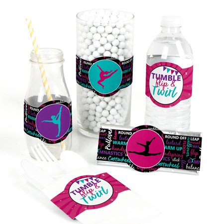 Gymnastic Party Favors (Tumble, Flip & Twirl - Gymnastics - DIY Party Supplies -Birthday Party or Gymnast Party DIY Wrapper Favors & Decor-15)