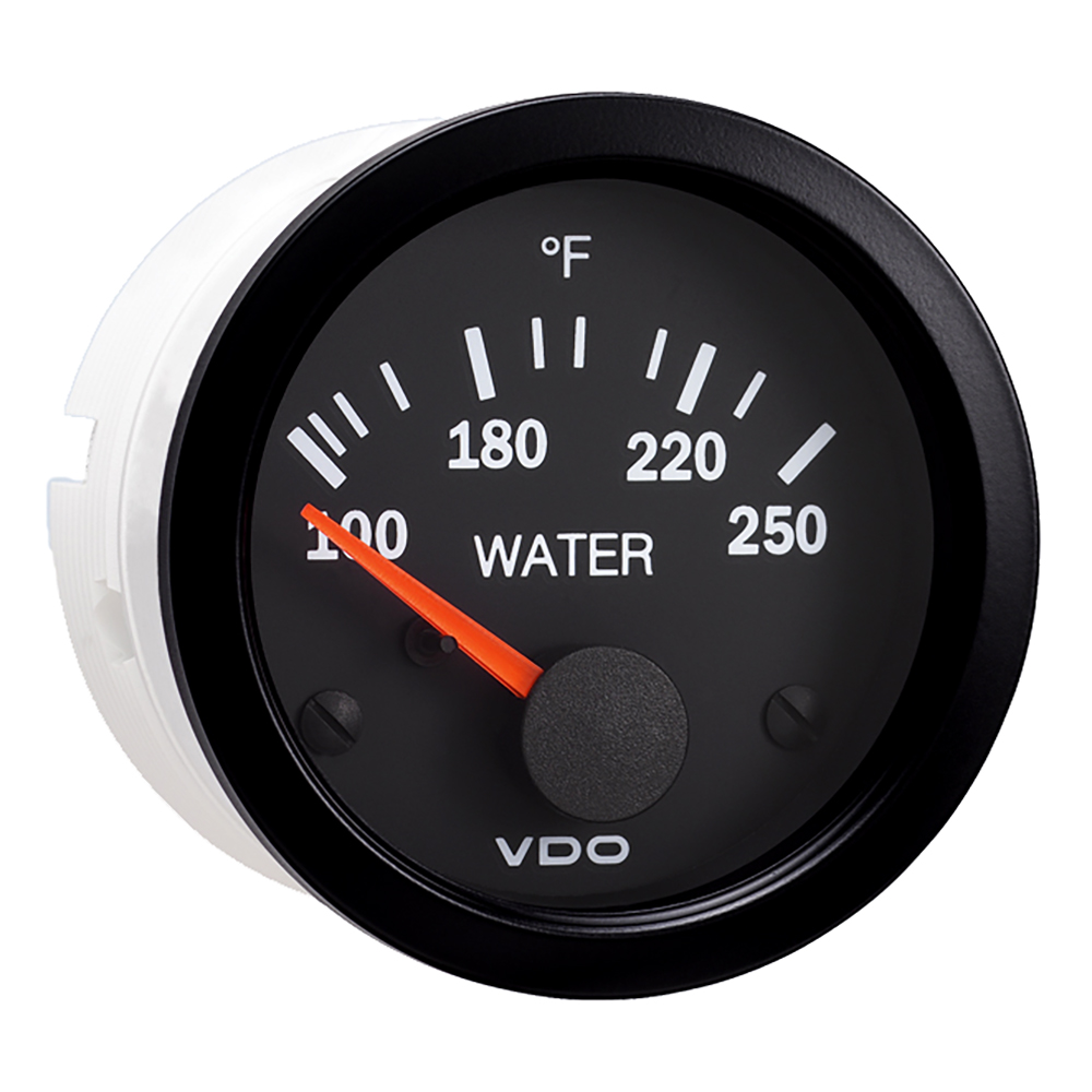 VDO VISION BLACK 250F WATER  TEMPERATURE GAUGE USE WITH VDO