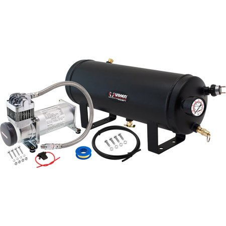 Vixen Horns 1.5 Gallon (5.6 Liter) Train/Air Horn Tank with 200 PSI Compressor Onboard System/Kit 12V (Air Compressor 200 Litre Tank 3hp 240v)