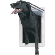 Ideal Ruff Weather Pet Door White, Extra Large for pets to 90 lbs.