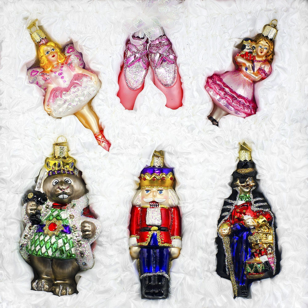 Gift Boxed Set Of 6 Old World Christmas Nutcracker Suite Ornaments ...