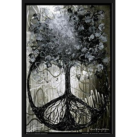 FRAMED Tree of Peace by David Wolcott 36x24 Art Print Poster Wall ...