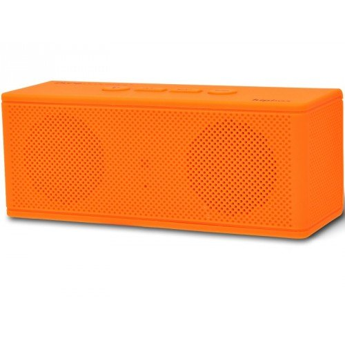 Pure Acoustics HipBox-mini Portable Wireless Bluetooth Companion Speaker with Aux + FM Radio and Phone Call Handling - Orange